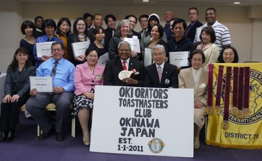 Oki Orators Charter Ceremony